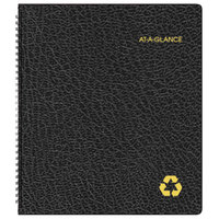 At-A-Glance 70260G05 9 inch x 11 inch Black January 2019 - January 2020 Recycled Monthly Planner