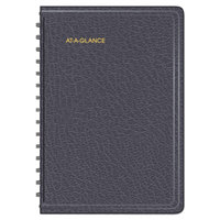 At-A-Glance 7080705 4 7/8 inch x 8 inch Black July 2017 - June 2018 Academic Daily Appointment Book