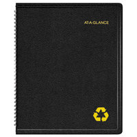 At-A-Glance 70951G05 6 7/8 inch x 8 inch Black January 2018 - December 2018 Classic Weekly / Monthly Appointment Book