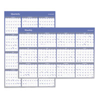 At-A-Glance A1152 32 inch x 48 inch Blue / Gray Reversible Vertical / Horizontal Erasable January 2019 - December 2019 Wall Planner