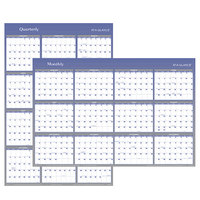 At-A-Glance A1152 32 inch x 48 inch Blue / Gray Reversible Vertical / Horizontal Erasable January 2020 - December 2020 Wall Planner