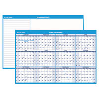 At-A-Glance PM30028 32 inch x 48 inch Blue / White Reversible Vertical / Horizontal Erasable January 2019 - December 2019 Wall Planner