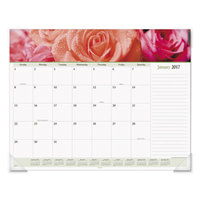 At-A-Glance 89805 22 inch x 17 inch Floral Panoramic Monthly January 2019 - December 2019 Desk Pad Calendar