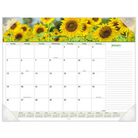 At-A-Glance 89805 22 inch x 17 inch Floral Panoramic Monthly January 2020 - December 2020 Desk Pad Calendar