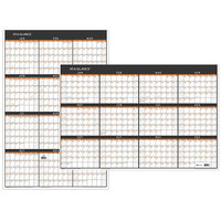 At-A-Glance PM26X28 24 inch x 36 inch Contemporary Reversible Vertical / Horizontal Erasable January 2020 - December 2020 Wall Planner