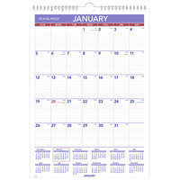 At-A-Glance PM228 12 inch x 17 inch Monthly January 2020 - December 2020 Wirebound Wall Calendar