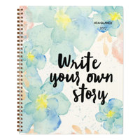 At-A-Glance 187905 B-Positive 9 1/4 inch x 11 3/8 inch Write Your Own Story January 2018 - December 2018 Weekly / Monthly Planner