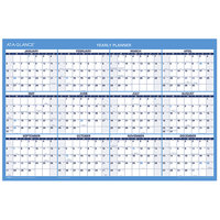 At-A-Glance PM20028 24 inch x 36 inch Blue / White Horizontal Erasable January 2020 - December 2020 Wall Calendar