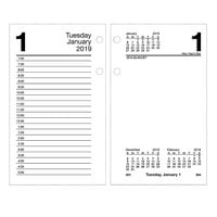 At-A-Glance E71750 3 1/2 inch x 6 inch January 2019 - December 2019 Desk Calendar Refill