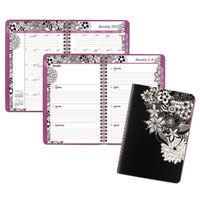 At-A-Glance 589200 Floradoodle 6 1/2 inch x 8 7/8 inch January 2018 - January 2019 Weekly / Monthly Planner
