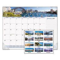 At-A-Glance DMD14532 22 inch x 17 inch Monthly January 2019 - December 2019 Harbor Views Desk Pad Calendar