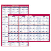 At-A-Glance PM2628 24 inch x 36 inch Blue / Red Reversible Vertical / Horizontal Erasable January 2019 - December 2019 Wall Planner