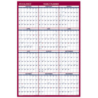 At-A-Glance PM2628 24 inch x 36 inch Blue / Red Reversible Vertical / Horizontal Erasable January 2020 - December 2020 Wall Planner