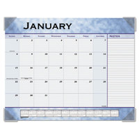 At-A-Glance 89701 22 inch x 17 inch Slate Blue Monthly January 2019 - December 2019 Desk Pad Calendar
