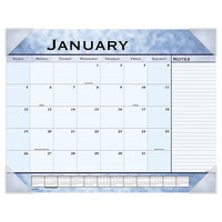 At-A-Glance 89701 22 inch x 17 inch Slate Blue Monthly January 2020 - December 2020 Desk Pad Calendar