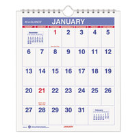 At-A-Glance PM528 6 1/2 inch x 7 1/2 inch Mini Monthly January 2019 - December 2019 Wirebound Wall Calendar