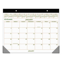 At-A-Glance GG250000 22 inch x 17 inch Monthly January 2019 - December 2019 Two-Color Desk Pad Calendar