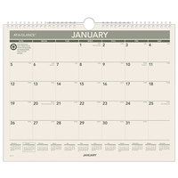 At-A-Glance PMG7728 12 inch x 15 inch Green Monthly January 2020 - December 2020 Wirebound Wall Calendar
