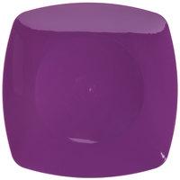 Fineline 1510-PRP Renaissance 10 inch Purple Square Plate - 10/Pack