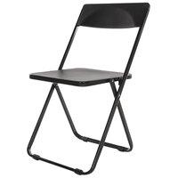 Alera Plus AAPFC912 FL Series Black Folding Chair - 4/Case