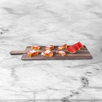 Elite Global Solutions M2312RC Fo Bwa 23 inch x 12 inch Rectangular Faux Hickory Wood Melamine Serving Board with Handle
