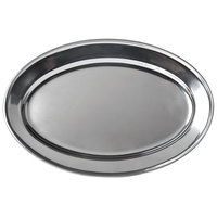 11 3/4 inch x 8 1/2 inch Oval Stainless Steel Platter