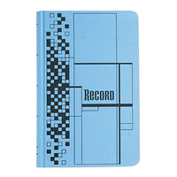 Adams ARB712CR5 7 5/8 inch x 12 1/8 inch Blue 500-Page Ledger Book