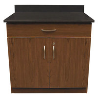 Alera Plus AAPBR102CY 36 inch x 25 inch x 40 inch Cherry Hospitality Base Cabinet with Two Doors and One Drawer