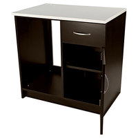 Alera Plus AAPBR105ES 36 inch x 24 inch x 36 inch Espresso Hospitality Base Cabinet with One Door and One Drawer