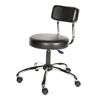 Alera Plus AAPCS610 HL Series Black Adjustable Stool with Back