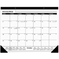 At-A-Glance SK241600 22 inch x 17 inch White September 2019 - December 2020 Ruled Monthly Desk Pad Calendar