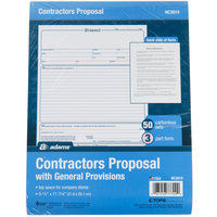 Adams NC3819 3-Part Carbonless Contractor Proposal Form - 50/Pack