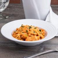 Elite Global Solutions DS85PB-W Swirl 12 oz. White Melamine Pasta / Soup Bowl - 6/Case