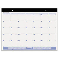 At-A-Glance SW20000 22 inch x 17 inch White Monthly January 2019 - December 2019 Desk Pad Calendar