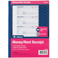Adams TC1182 3-Part Carbonless Rent Receipt Book with 100 Receipts