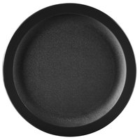 Carlisle PCD20903 Black 9 inch Polycarbonate Narrow Rim Plate - 48/Case
