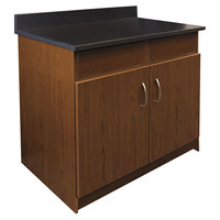 Alera Plus AAPBR104CY 36 inch x 25 inch x 40 inch Cherry Hospitality Base Cabinet with Two Doors and Two Flipper Panels