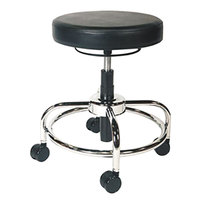 Alera Plus AAPCS614 HL Series Black Adjustable Utility Stool