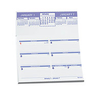 At-A-Glance SW705X50 Flip-A-Week 5 5/8 inch x 7 inch White 2019 Desk Calendar Refill