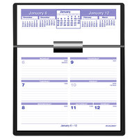 At-A-Glance SW705X50 Flip-A-Week 5 5/8 inch x 7 inch White 2020 Desk Calendar Refill