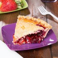 Fineline 1506-PRP Renaissance 5 1/2 inch Purple Square Dessert Plate - 10/Pack