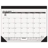 At-A-Glance SK2200 22 inch x 17 inch Refillable Monthly January 2018 - December 2018 Desk Pad Calendar