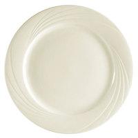 CAC GAD-8 Garden State 9 inch Bone White Round Porcelain Plate - 24/Case