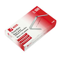 Acco 12993 2 inch Capacity Two-Piece Paper File Fasteners - 100/Box