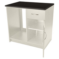 Alera Plus AAPBR105GY 36 inch x 24 inch x 36 inch Gray Hospitality Base Cabinet with One Door and One Drawer