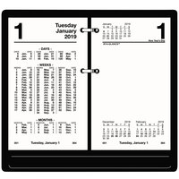 At-A-Glance S17050 3 1/2 inch x 6 inch White January 2019 - December 2019 Financial Desk Calendar Refill