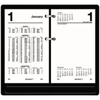 At-A-Glance S17050 3 1/2 inch x 6 inch White January 2021 - December 2021 Financial Desk Calendar Refill