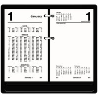At-A-Glance S17050 3 1/2 inch x 6 inch White January 2020 - December 2020 Financial Desk Calendar Refill