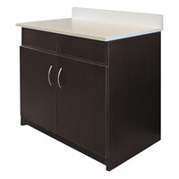 Alera Plus AAPBR104ES 36 inch x 25 inch x 40 inch Espresso Hospitality Base Cabinet with Two Doors and Two Flipper Panels