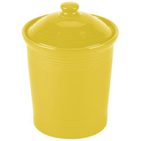 Homer Laughlin 572320 Fiesta Sunflower Medium 2 Qt. Canister with Cover - 2/Case